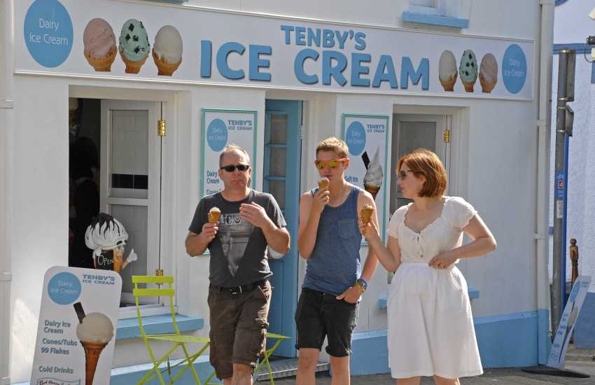 Try Tenby's Ice Cream Shop for all sorts of mouthwatering flavours!