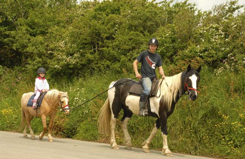 Nolton Riding Stables caters for all levels of experience. Do enjoy an exhilarating  gallop through the waves or a gentle hack through the Pembrokeshire countryside