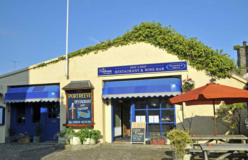 Try Portreeve's dog friendly restaurant for real ales, excellent food and a warm Welsh welcome