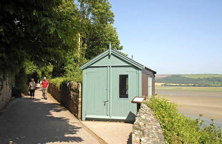 The 'Writing Shed' overlooks the Taf Estuary where much of Dylan's work was completed