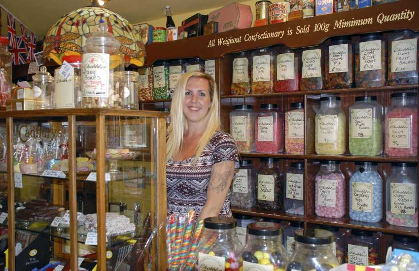 Do visit 'Chobbles', a traditional sweet shop in Saundersfoot, for all the sweets you used to buy as kids!