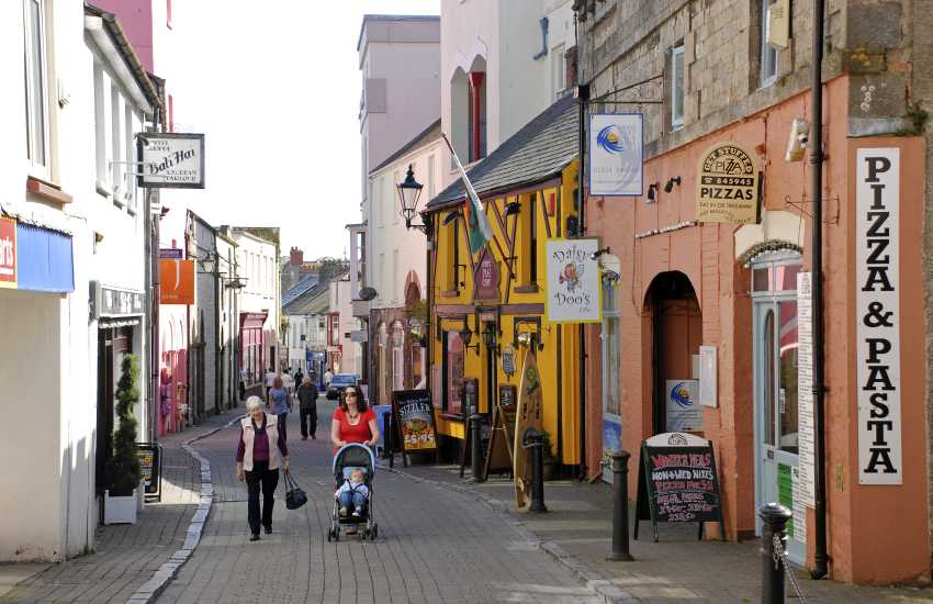 Tenby's narrow cobbled streets are lined with boutique shops, restaurants, pubs and cafes