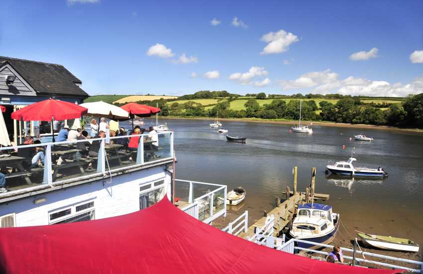 Enjoy food at The Ferry Inn, St Dogmaels which over looks the Teifi River