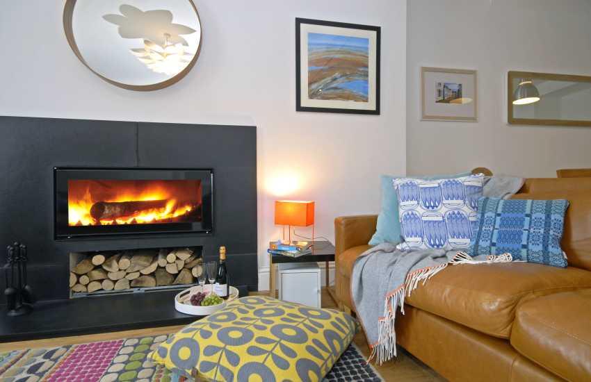 St Davids holiday cottage - log burner