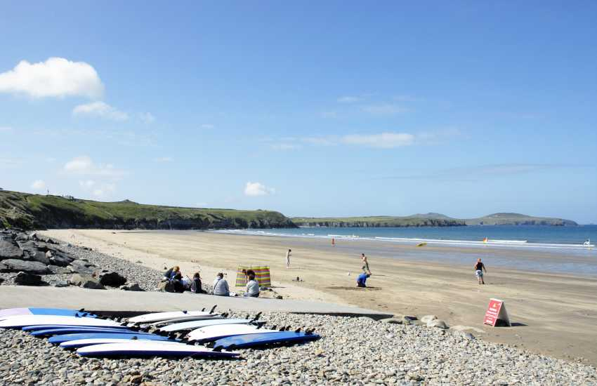 Whitesands Bay (Blue Flag) - a spectacular golden sandy beach