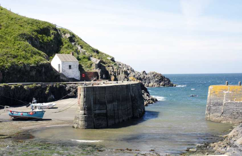 The small fishing harbour of Porthgain