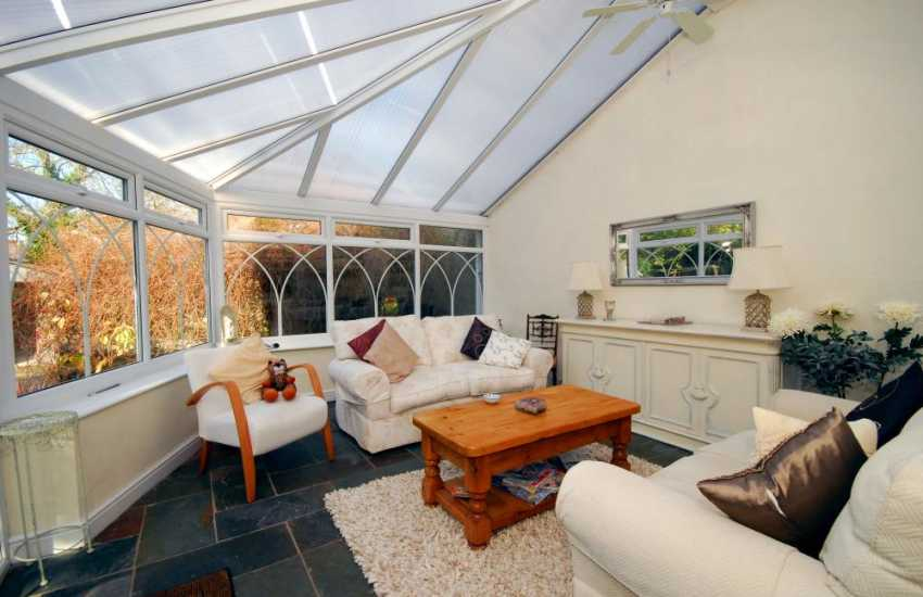 Conservatory at North wales holiday cottage