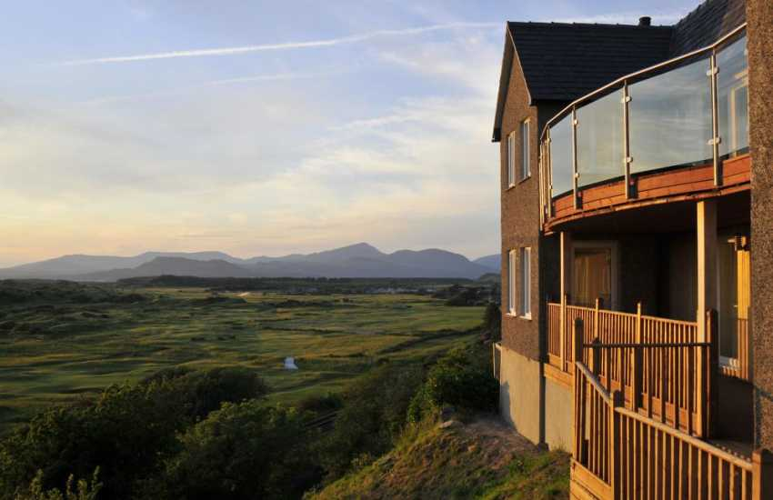 Views from holiday cottage towards the distant Lieyn Peninsula