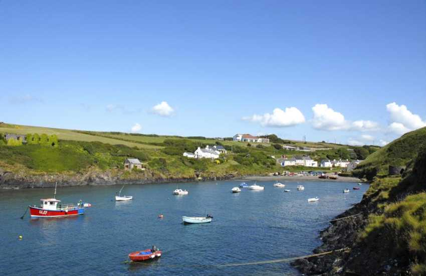 The sheltered cove of Abercastle nearby is great for boating, fishing and rock pooling