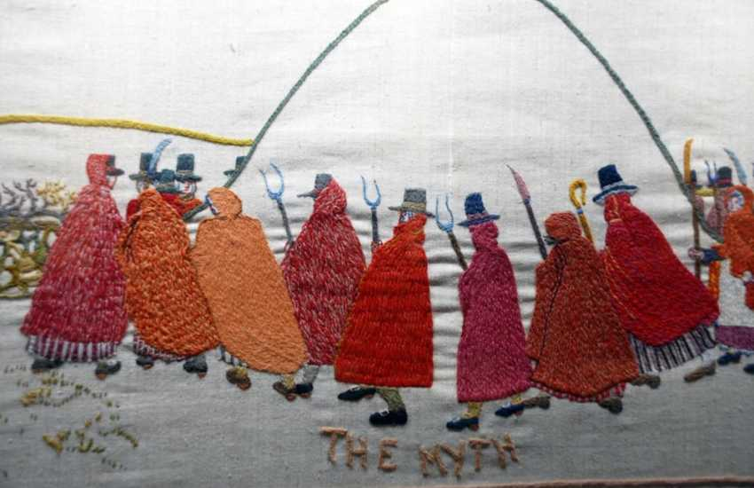 The Last Invasion Embroidered Tapestry hangs in Fisguard's Town Hall - 30.4m long and took 4 years to complete