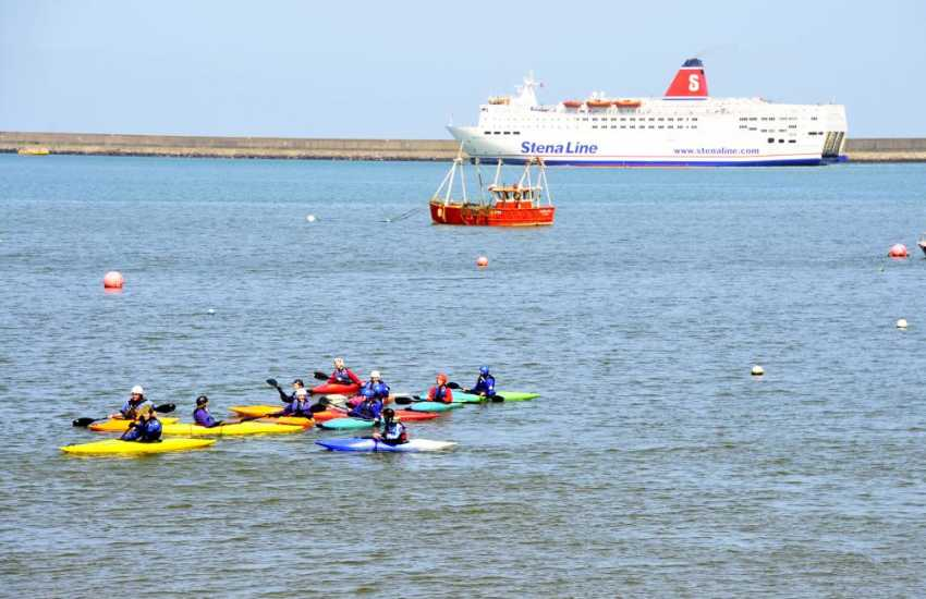 Mike Mayberry Kayaking and Fishguard Harbour Water Sports Centre in Goodwick have a wide variety of activities available. Try your hand at kayaking