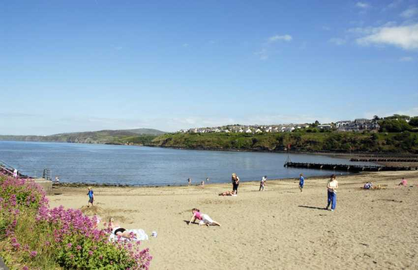 Parrog Beach, Goodwick is a sheltered sandy foreshore with excellent water sports facilities.