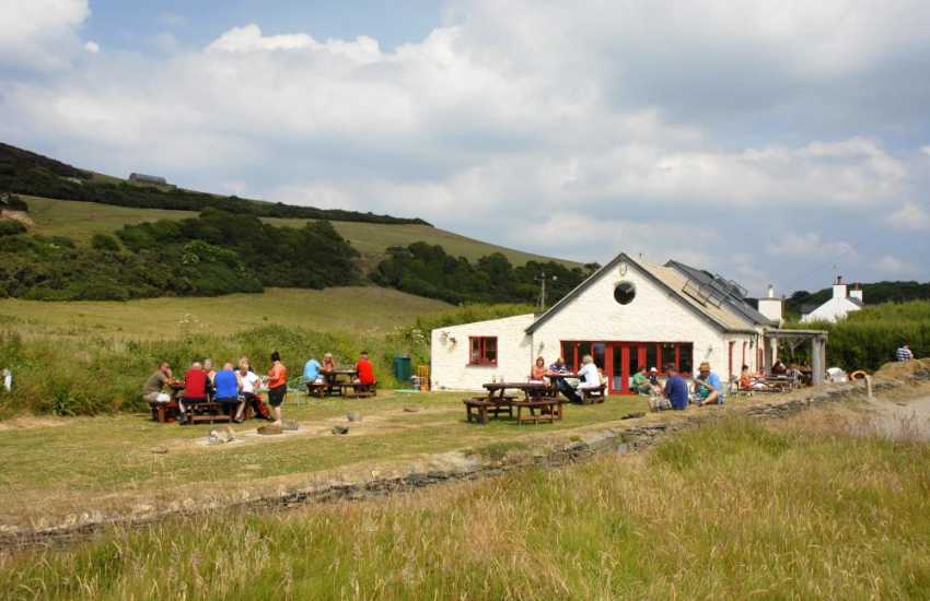 The Old Sailors Inn overlooks Pwllgwaelod beach and serves fresh locally caught seafood outside on the lawn or in the small intimate dining room - a perfect watering hole!