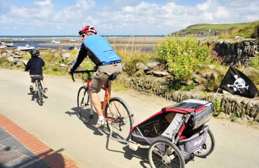 Newport Bike Hire has mountain and road bikes for all ages including children's seats and tag alongs. Helmets, maps and accessories are provided