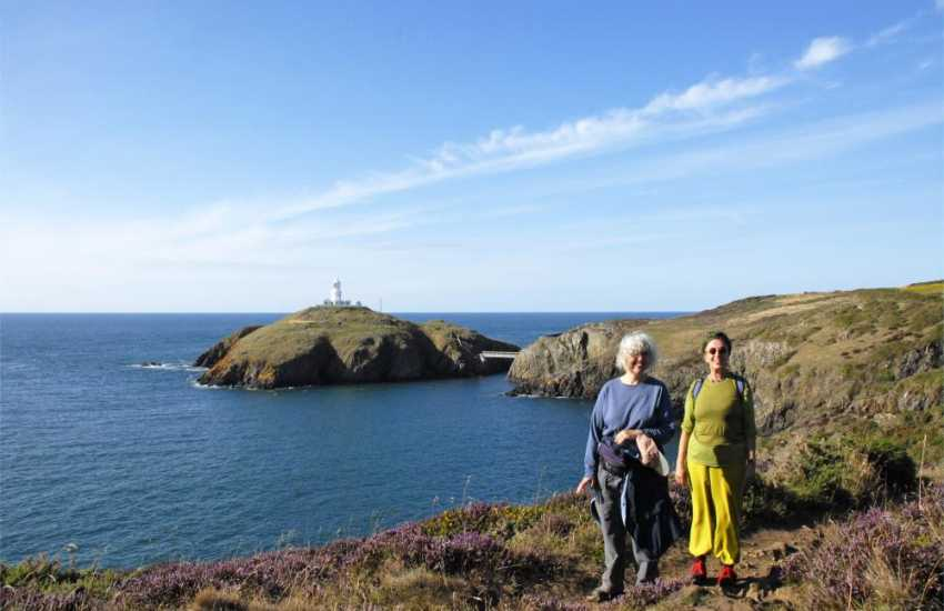 The Pembrokeshire Coast Path at nearby Strumble Head Lighthouse offers fabulous cliff top walking and is a popular spot for spotting passing seabirds, porpoise, dolphins and seals