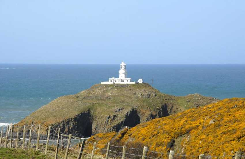 Strumble Head where the lighthouse sits on Ynys Meicel Island is home to fascinating pre historic sites