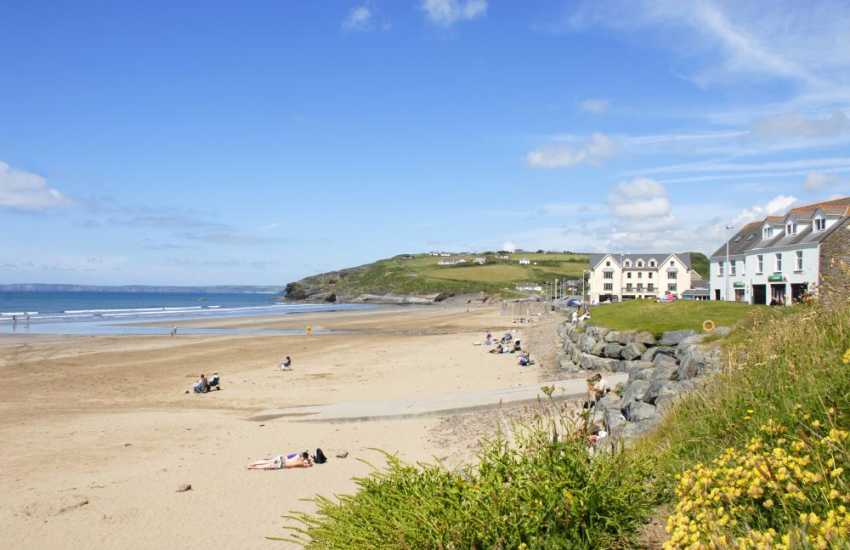 Broad Haven (Blue Flag) is a superb sandy beach - safe bathing, windsurfing, sail boarding, kite flying and great for rock pooling