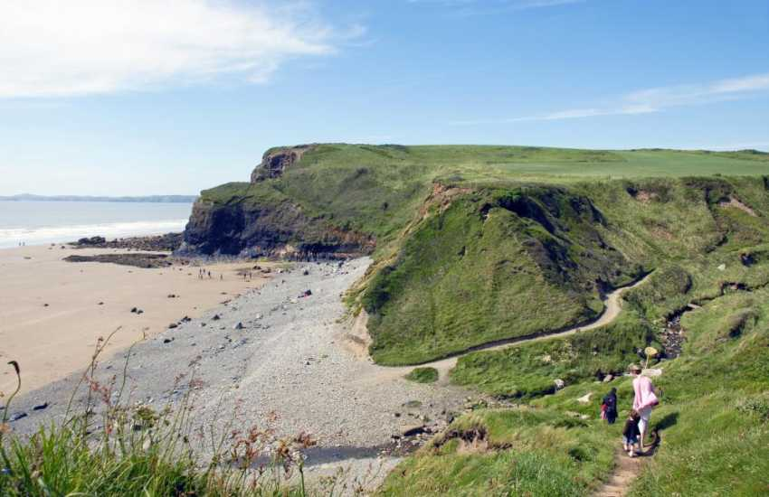 The Pembrokeshire Coast Path offers fabulous cliff top walking near Druidston Beach