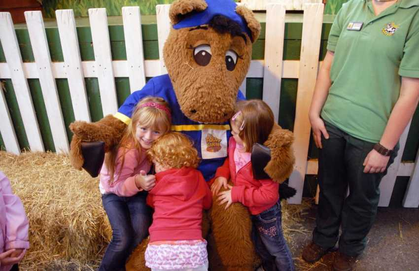 Children will love a day out with the animals at Folly Farm Adventure Park and Zoo near Tenby