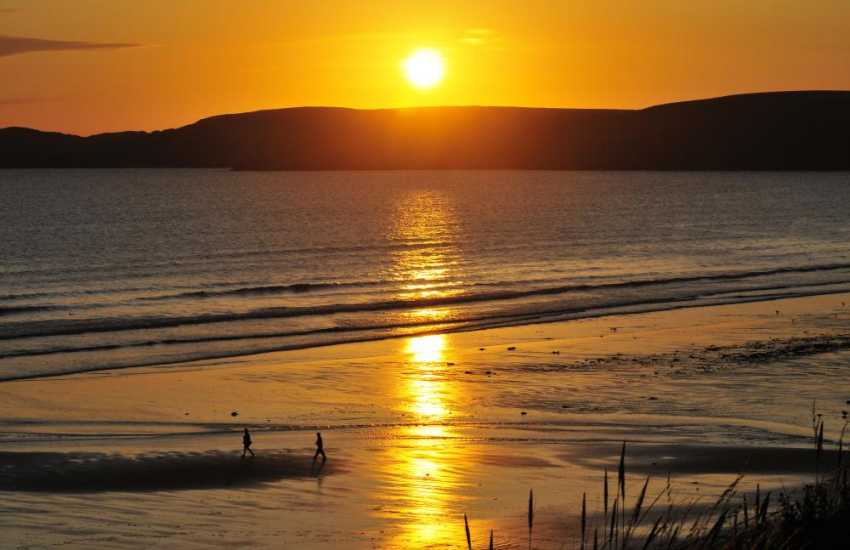 Sunsets over the North Pembrokeshire coast can be breathtaking