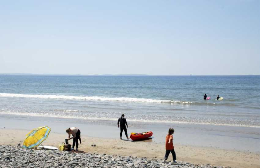 Newgale Beach a short drive away, is a broad expanse of golden sand poular with families and watersport enthusiasts