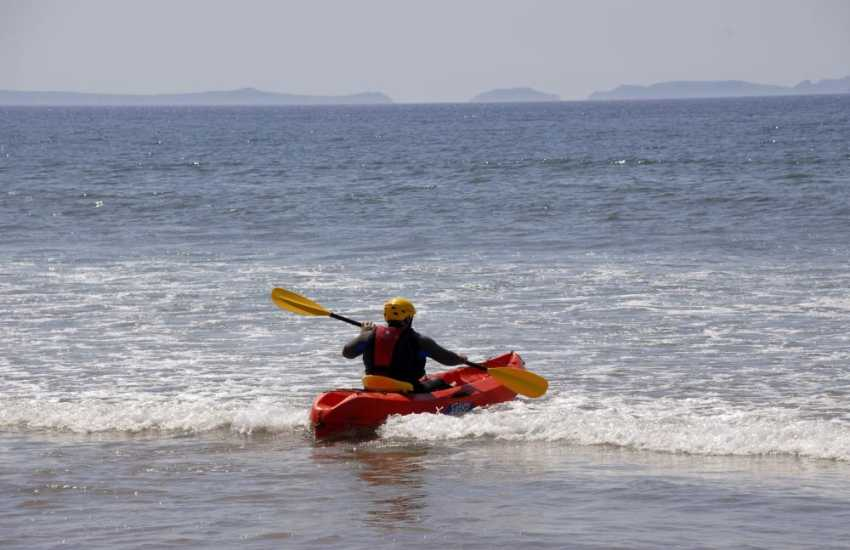 Newgale is a great location for sea kayaking and riding the waves - a full hire service is available from 'Newsurf' shop located near the beach