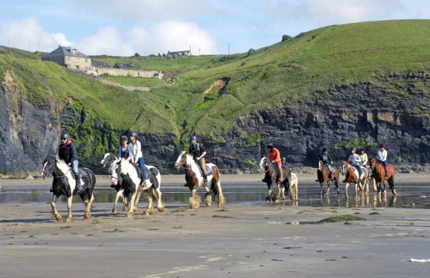 Nolton Riding Stables offer quiet hacks through rural Pembrokeshire or exhilarating gallops through the surf - quite an unforgettable holiday memory!