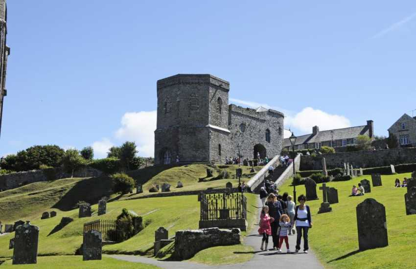 The Bell Tower and 39 articles (steps) leading to St Davids Cathedral