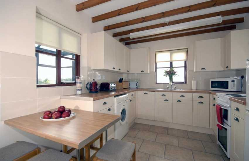 Self-catering cottage on the Pembrokeshire coast - modern kitchen