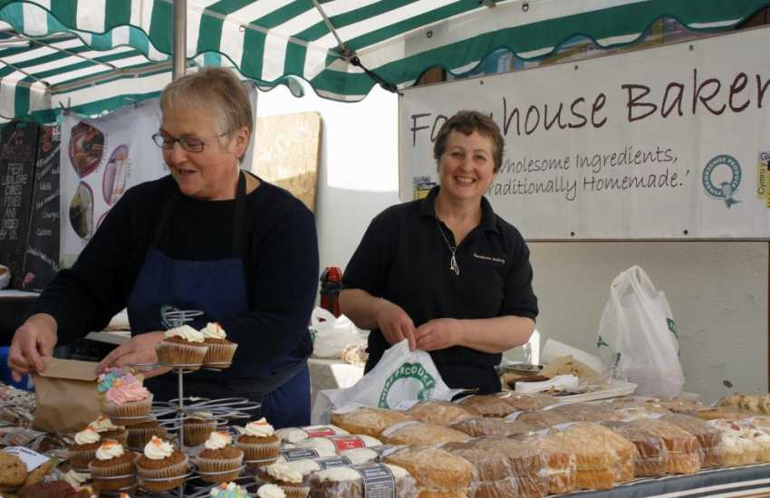 Delicious home made cakes at Haverfordwest's Farmers Market, held every other Friday during the summer months