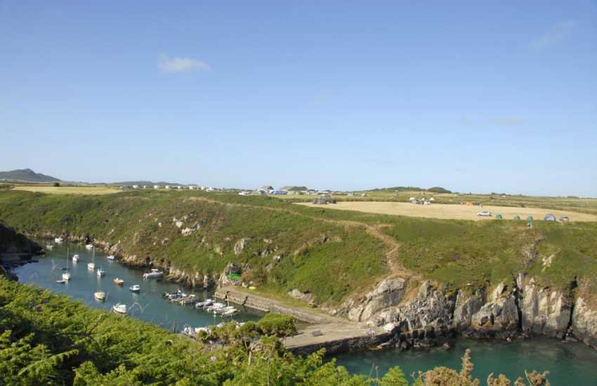 Porth Clais (N.T.) sheltered harbour - popular with local fisherman, sailors, canoeists and families