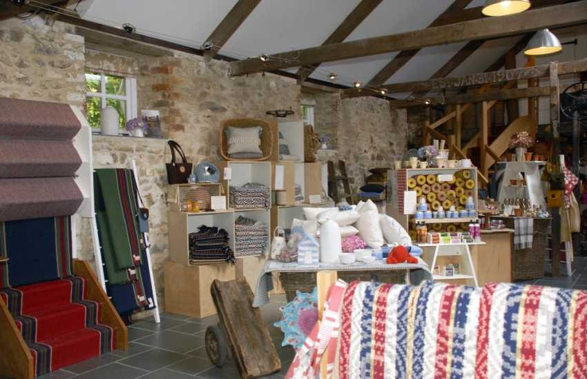 Take a trip to Solva Woolen Mill - the oldest working mill in Pembrokeshire specialising in flat woven floor rugs and runners with a lovely shop in which to browse