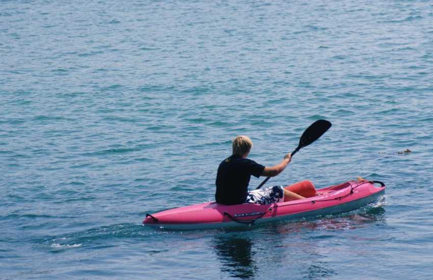 Kayaking is a popular activity around the bays and coves of the Pembrokeshire coastline.
