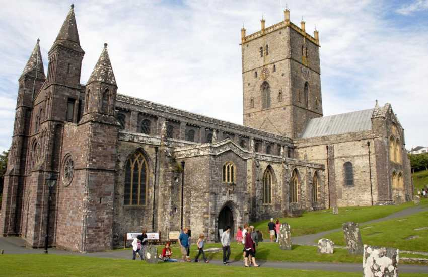 Magnificent St Davids Cathedral plays host to world wide festivals and concerts throughout the year and a 'must' to visit whilst on holiday