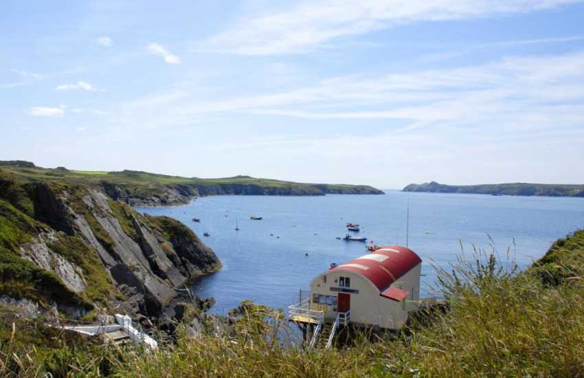St. Justinians Lifeboat Station on Ramsey Sound, St Davids