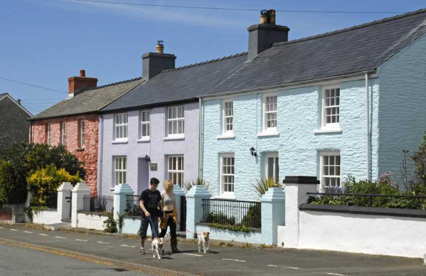 Out with the dogs in the picturesque village of Trefin - pets are welcome at Manor House