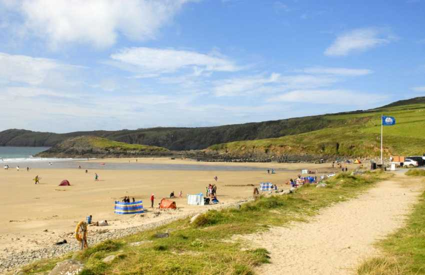 Whitesands Beach (Blue Flag) nearby is one Pembrokeshire's finest beaches - a surfers paradise and great for games of football, cricket or flying kites especially at low tide