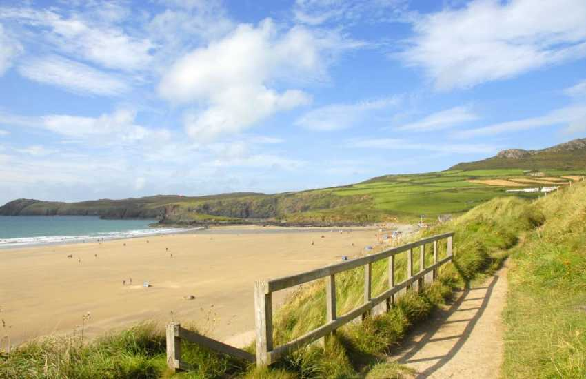 Whitesands Beach (Blue Flag) is one of the finest beaches in Pembrokeshire - great for water-sport enthusiasts and a firm favourite with families
