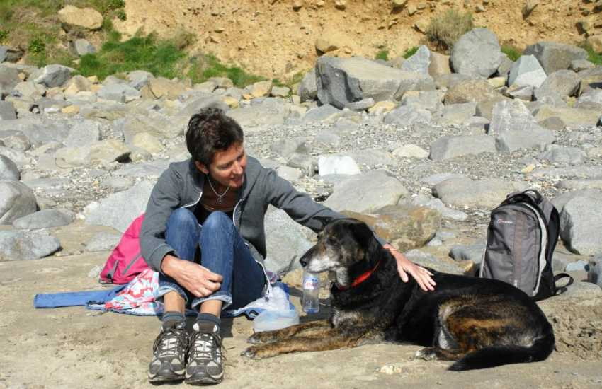 Enjoying time on the beach together - many of our holiday cottages welcome your pet