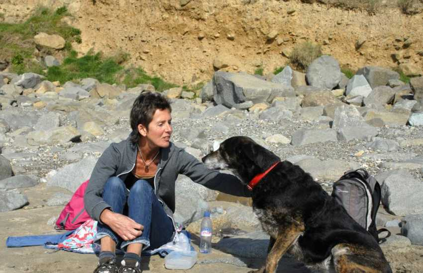 Enjoying time out together down on the beach - pets welcome