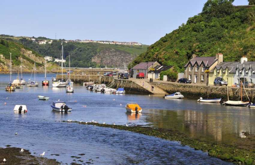 Lower Town, Fishguard - a picturesque harbour where the River Gwaun meets the sea