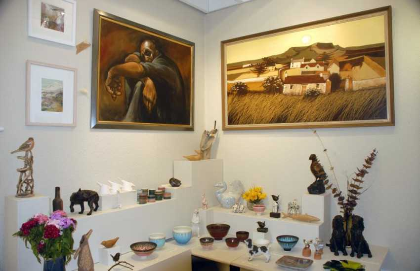 Workshop Wales Gallery near Fishguard has some beautiful sculptures and art works on sale - well worth a visit!