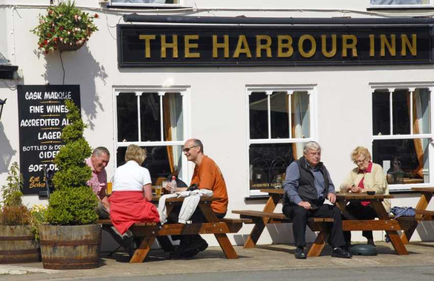 The Harbour Inn Solva, overlooking the river, is famous for real ales, local sea food dishes and a hearty Sunday Carvery