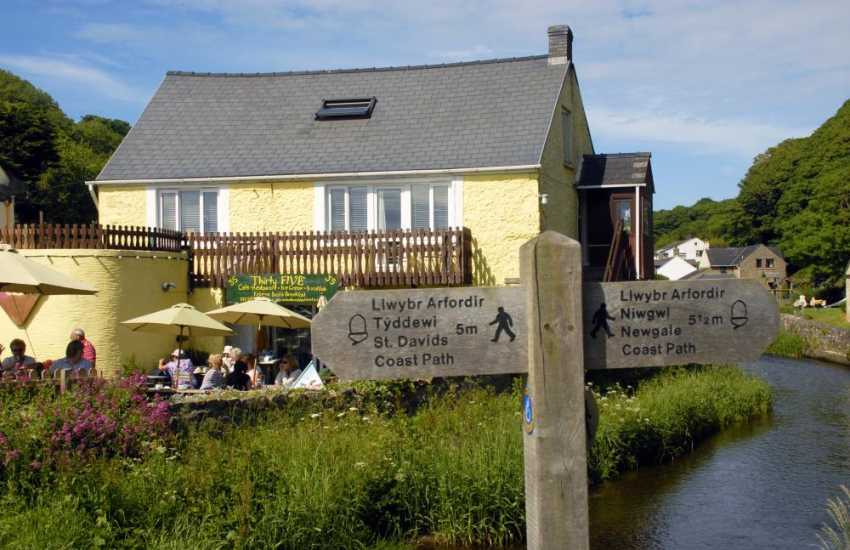 Number Thirty Five sits on the banks of the Solva river - delicious ice creams and mouthwatering home made cakes