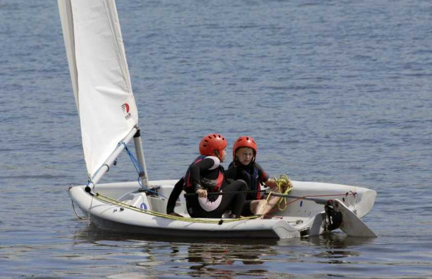 'Getting the hang of it' - Pembrokeshire Adventure Centre offer a wide variety of water and land base activities including rafting, climbing, surfing and sailing
