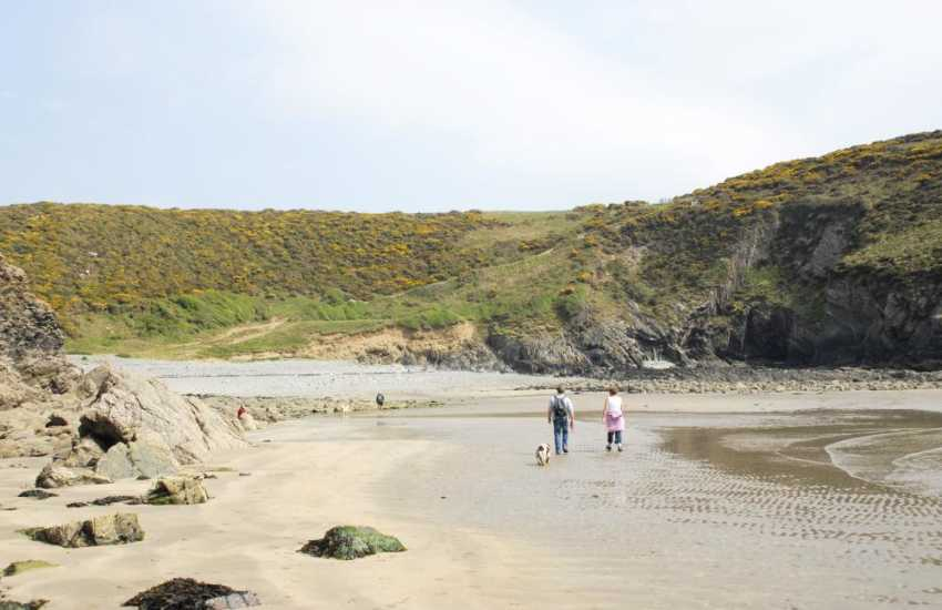 Gwaden Cove, a sheltered spot for picnics, sunbathing and swimming