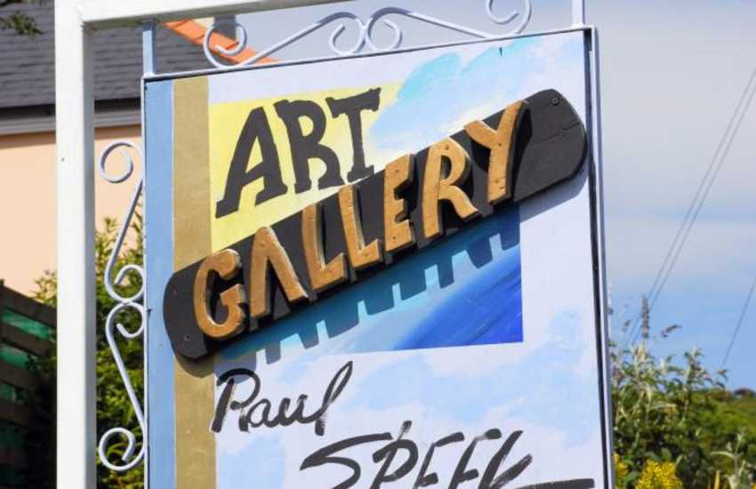 The Raul Speek Gallery in Solva has colourful Cuban paintings and workshops are available for all ages