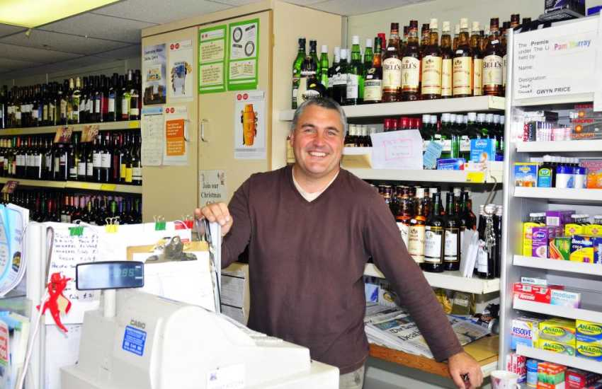 Always service with a smile at the excellent Bay View Stores and Post Office in the pretty coastal village of Solva.
