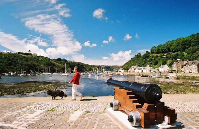 The picturesque harbour down at Fishguard's Lower Town