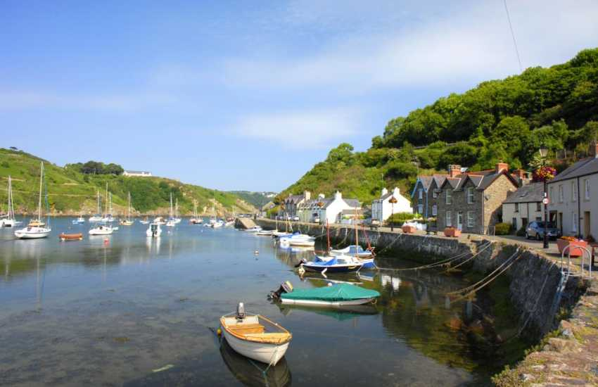 Fishguard's tiny picturesque harbour of Lower Town has been used as the setting for many films including Dylan Thomas' 'Under Milk Wood'